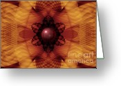 Transcend Greeting Cards - Waves of Transformation Fractal Greeting Card by Miabella Mojica