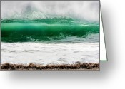Northshore Greeting Cards - Waves Project Greeting Card by Marius Sipa