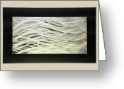 Textured Sculpture Greeting Cards - Waves Greeting Card by Rick Roth