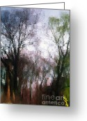 Willows Digital Art Greeting Cards - Wavy Willows Greeting Card by RC DeWinter