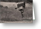 Old Country Roads Greeting Cards - Way Back Greeting Card by Jean OKeeffe