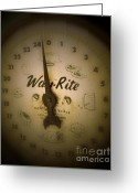 Scale Digital Art Greeting Cards - Way Rite Greeting Card by Jackie Bodnar
