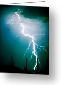 Thunderstorms Greeting Cards - Way to close for Comfort Greeting Card by James Bo Insogna