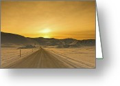 The Way Forward Greeting Cards - Way To Snowy Mountains Greeting Card by Gulli Vals