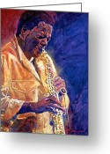 Live Music Greeting Cards - Wayne Shorter The Message Greeting Card by David Lloyd Glover