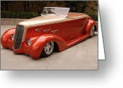 Custom Roadster Greeting Cards - Wazza Greeting Card by Bill Dutting