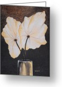 Product Painting Greeting Cards - WBA135 Gold Leaf Greeting Card by Wayne Bobzin