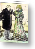 Old Ladies Drawings Greeting Cards - W.C.Fields and Jan Greeting Card by Mel Thompson