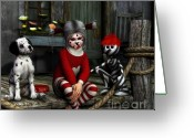 Stripes Greeting Cards - We Are Family Greeting Card by Jutta Maria Pusl