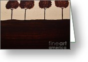 Landscape Posters Painting Greeting Cards - We Are Family Greeting Card by Marsha Heiken