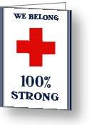 World War One Greeting Cards - We Belong One Hundred Percent Strong Greeting Card by War Is Hell Store