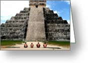 Featured Greeting Cards - We Came We Saw We Conquered. Cancun Greeting Card by Christopher Reithel