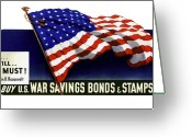 Fdr Greeting Cards - We can We will We must  Greeting Card by War Is Hell Store