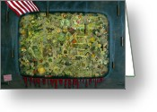 News Mixed Media Greeting Cards - We dont see the whole picture Greeting Card by James W Johnson