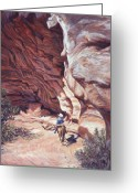 Grand Gulch Greeting Cards - We Have A Visitor Greeting Card by Page Holland