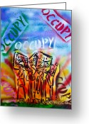 Sit-ins Greeting Cards - We Occupy Greeting Card by Tony B Conscious
