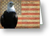 We The People Greeting Cards - We the Eagle Greeting Card by Geri Chamberlin