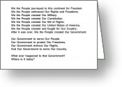 We The People Greeting Cards - We The People Greeting Card by Bruce Iorio