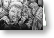 Street Art Drawings Greeting Cards - We The People Greeting Card by Curtis James