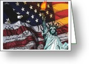 4th Digital Art Greeting Cards - We The People For Framing Greeting Card by Dancin Artworks