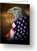 "\""old Glory\\\"" Greeting Cards - We The People Greeting Card by Tom Mc Nemar"