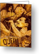 Celebrities Painting Greeting Cards - We Will Rock You Greeting Card by Igor Postash