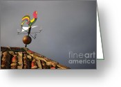 Weathercock Greeting Cards - Weather Vane Greeting Card by Carlos Caetano