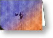 Storm Digital Art Greeting Cards - Weather Vane Sunset Greeting Card by Bill Cannon