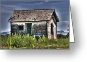Shed Greeting Cards - Weathered and Worn Well  Greeting Card by Saija  Lehtonen