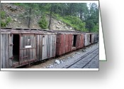 The Classic Greeting Cards - Weathered box cars Greeting Card by Jack Pumphrey