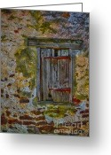 Mold Greeting Cards - Weathered Vibrancy Greeting Card by Susan Candelario