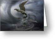 Weathervane Greeting Cards - Weathervane Greeting Card by Steven  Michael