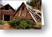 Old Mines Greeting Cards - Weaver Town Site Greeting Card by Lana Trussell