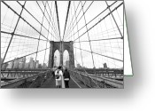 Bridge Greeting Cards - Web of Love Greeting Card by Andrew Serff