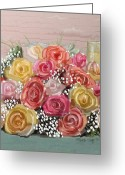 Bouquets Greeting Cards - Wedding Bouquet Greeting Card by Arline Wagner