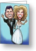 Cute Greeting Cards - Wedding Cake Dolls Greeting Card by Kevin Middleton