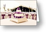 Vases Greeting Cards - Wedding Cake Greeting Card by Tom Gowanlock