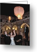 Wedding Greeting Cards - Wedding Globos Greeting Card by David April