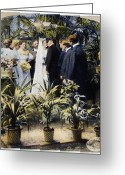Bridesmaid Greeting Cards - Wedding Party, 1897 Greeting Card by Granger