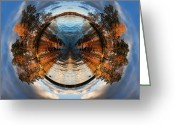 High Resolution Greeting Cards - Wee Lake Vuoksa Twin Islands Greeting Card by Nikki Marie Smith