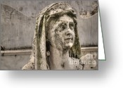 Burials Greeting Cards - Weeping Statue Greeting Card by Deborah Smolinske
