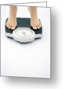 Tip Toes Greeting Cards - Weight Measurement Greeting Card by Gavin Kingcome