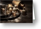 Apothecary Greeting Cards - Weights and Measures Greeting Card by Tom Mc Nemar