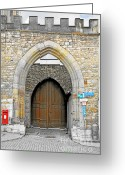 Battlement Greeting Cards - Weimar - UNESCO World Heritage Site Greeting Card by Christine Till