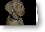 Weim Greeting Cards - Weimaraner Greeting Card by Dale Moses