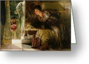 Alma-tadema Greeting Cards - Welcome Footsteps Greeting Card by Sir Lawrence Alma-Tadema