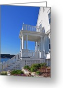 Portico Greeting Cards - Welcome Home Greeting Card by Corinne Rhode