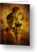 Lovers Embrace Greeting Cards - Welcome Home Greeting Card by Kurt Van Wagner