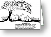 Devotional Art Drawings Greeting Cards - Welcome the Children Greeting Card by Rich Brumfield