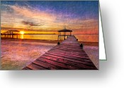 Gazebo Greeting Cards - Welcome the Morning Greeting Card by Debra and Dave Vanderlaan